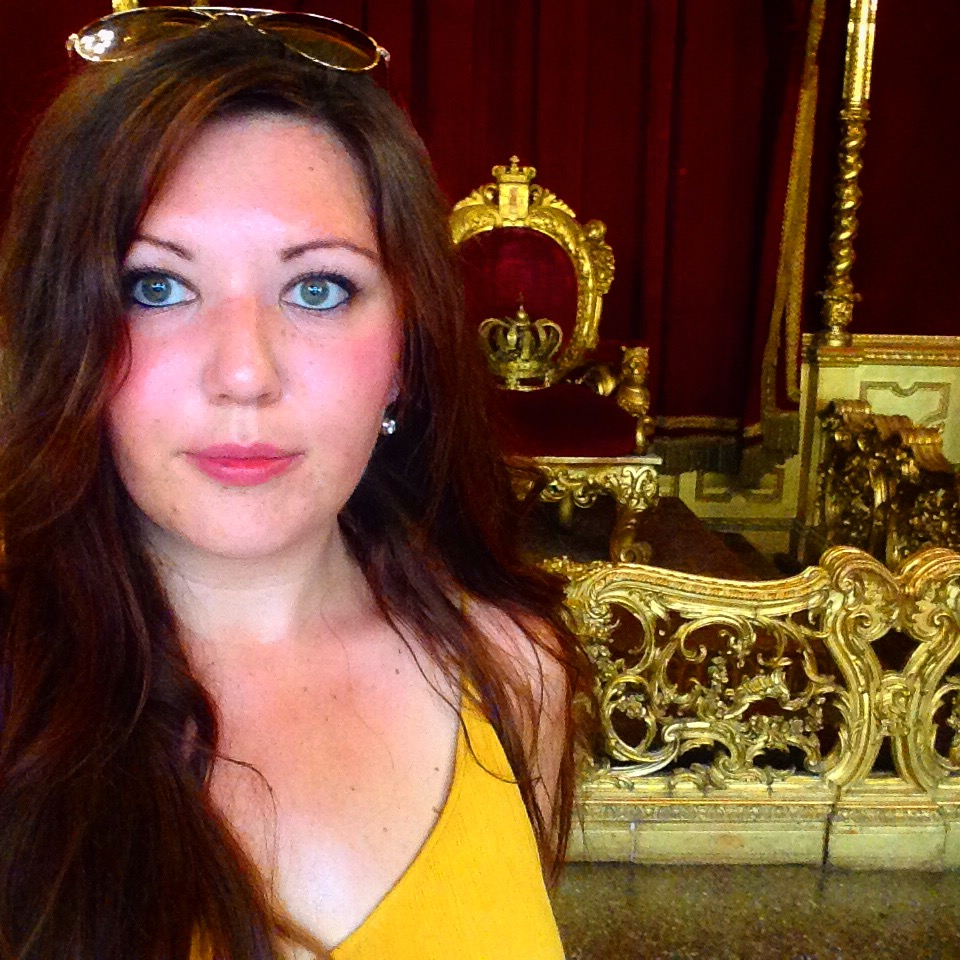 A girl, a throne, and a severe sunburn.