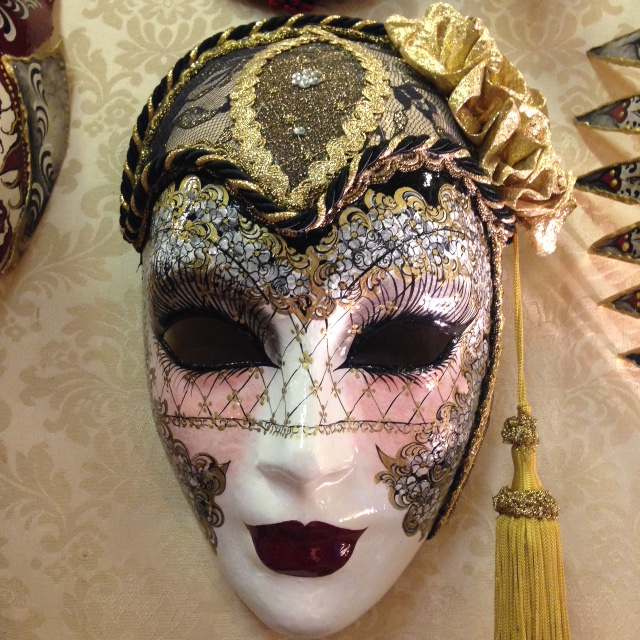 Stunning detail on a mask in Schegge.