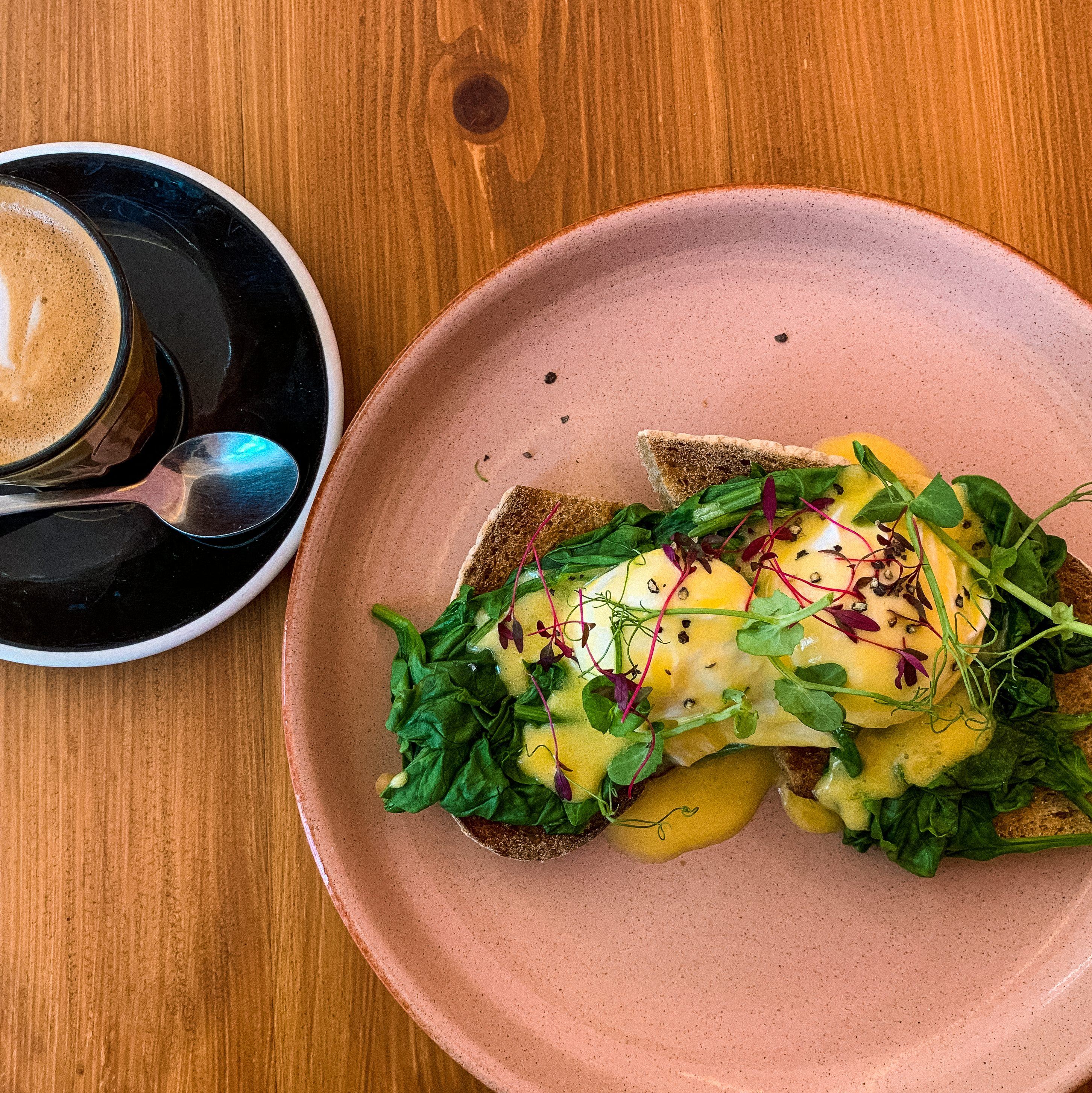 Eggs Florentine at Good Day Cafe.